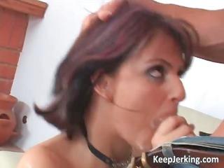 hawt redhead floozy receives her booty fucked