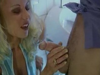 horny euro-milf bonks stranger in public bathroom