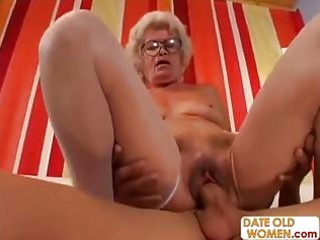 hairy granny with glasses