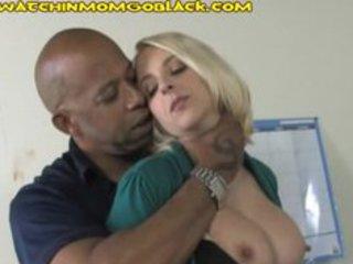 mamma punishing a racist son by engulfing black