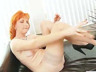 redhead mom dildos unshaved pussy