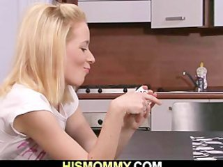 he leaves and lustful mom seduces his gf