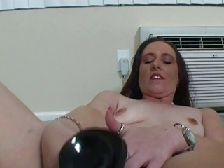 mature chubby woman mastrubating with her toys
