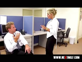 blowing large penis in the office