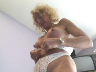 aged german golden-haired wants to make a porn -