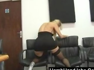 blond punishes a pounder