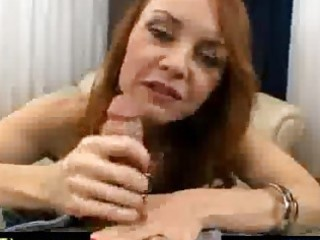 excited red haired older spoiling a cock