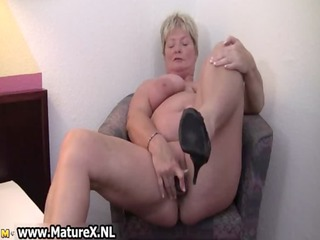 immodest older housewife widens