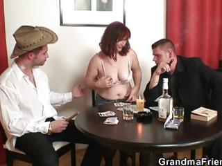 granny loses in undress poker