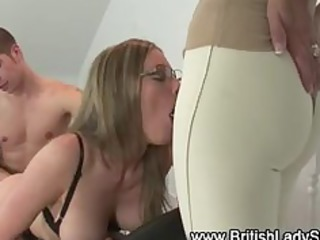 nylons british chick gets screwed
