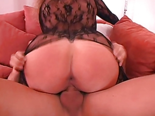 german wife big tits in hawt catsuit laid
