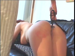 large love melons redhead spanked by a smokin