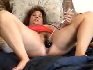 great masturbation of a pervert mature bitch.