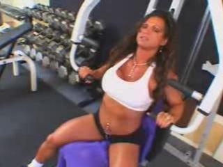 hot mature busty dark brown bodybuilder banged