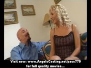 hot blond milf as bride does oral-job and