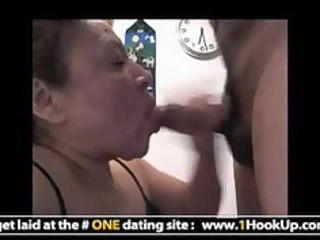 latin aged hookup receives her face hole screwed