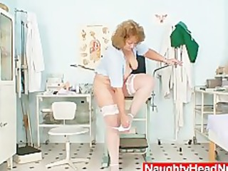 fat old nurse mom receives naughty in gyn clinic