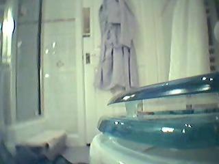 jj takes a shower