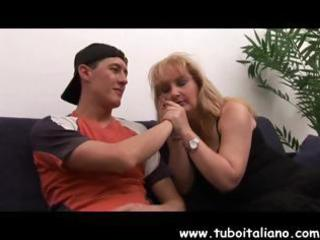 breasty aged italian blond gets fingered and