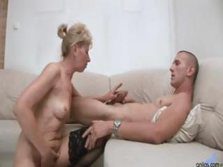 hawt blond granny receives a younger chaps jock