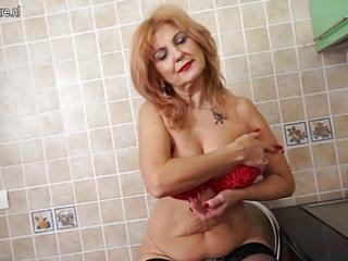 super sexy grandma shows sexy body and masturbates