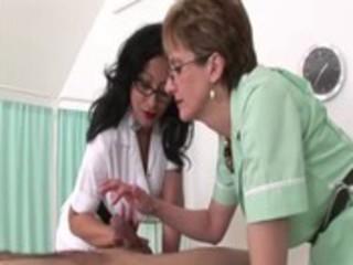 femdom fetish older nurses give handjob