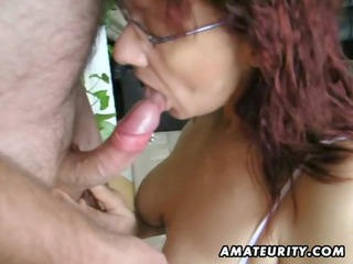 sexy amateur aged whore sucks and bonks with huge
