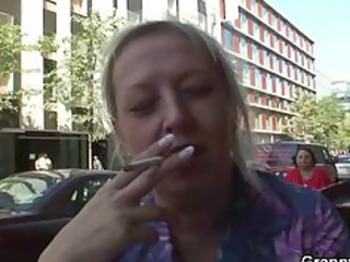 groaning granny rides young meat