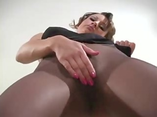 seamless pantyhose playing