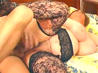 large breasty in lace nylons bonks big beautiful