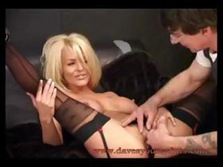 busty blond brit milf tia layne rides his cock