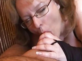 breasty non-professional wife tugjob and blowjob