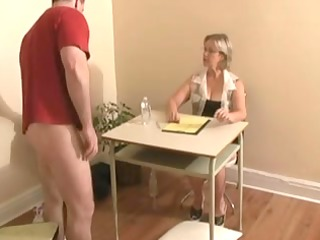 tugjob ends with cumshot by big tittied