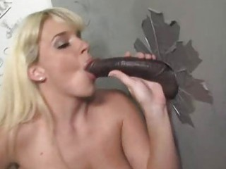 milf goes darksome at a gloryhole