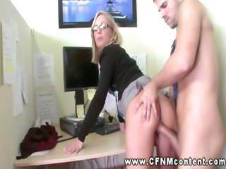 two office skanks demand hard fucking from male