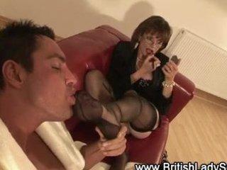 aged wench indulges fetish