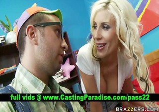 puma swede busty golden-haired teasing lad