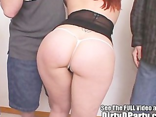 large titty cuties jock sucking and pussy