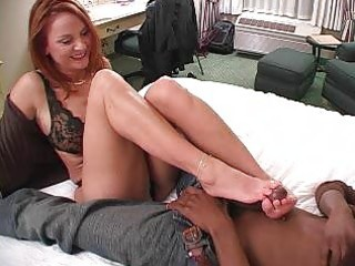 sexy older dilettante wife interracial foot fetish