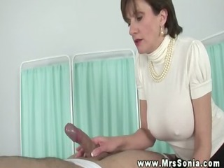 lady sonia manually teasing blindfolded studs wang