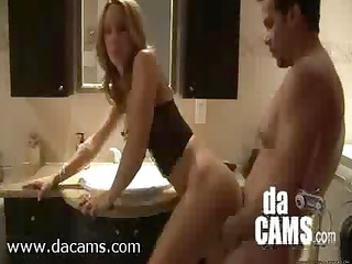 amateur pair bathroom quickie