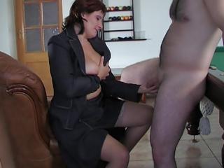 russian mom viola copulates youthful chap