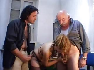 favourable girl engulf grandpa rod