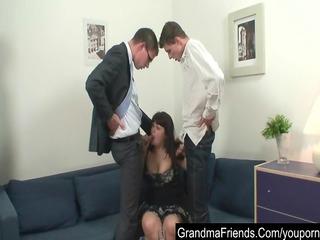 corpulent older seduced by two juvenile boyz