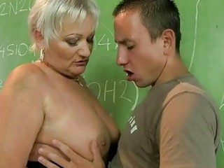 aged teacher fucking with her student