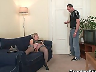old wench takes cocks after masturbation