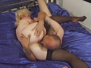 granny in nylons toyed and drilled