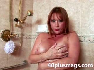 teasing mature shower scene
