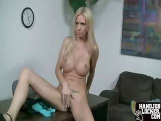 large tit blond tugjob