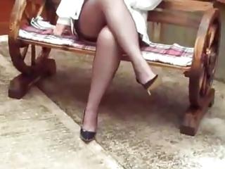my mum in stockings